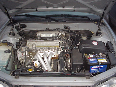 Engine bay from front