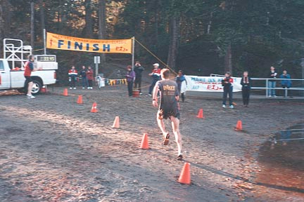 2000 Gunner Shaw XC - Winner James Morrison surges for the finish