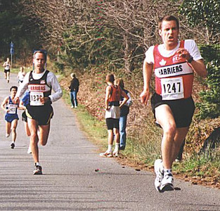 2000 Hatley Castle 8K - Tim Tanton outkicks the great Herb Phillips