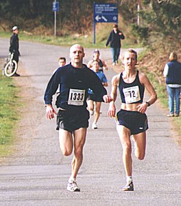 2000 Hatley Castle 8K - Ben Franklin and (winner) Judith LeRoy