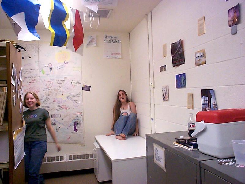 Katie & Carrie in the Yearbook Room