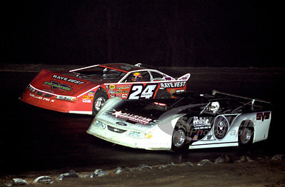 0 Scott Bloomquist and 24 Rick Eckert
