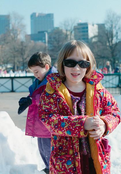 Benjamin and Isabel at Frog Pond, Boston Common