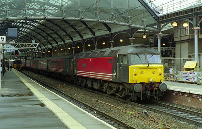 47841 'Spirit of Chester' at Newcastle after working the SuO 1E25 0915 from Derby (21/05/2000)