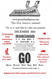 December, 2000, Poor Richard's Press