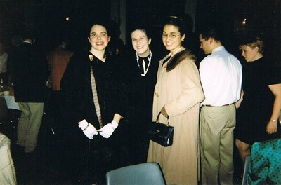 Kate Kaproth '01, me '02 & Molly Hayden '03 before a Chamber Singers holiday dinner performance