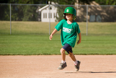 2008 July - Zach at T-Ball
