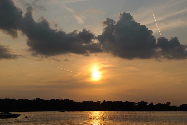 Sunset over Bear Trap Lake. Taken by my daughter Gina