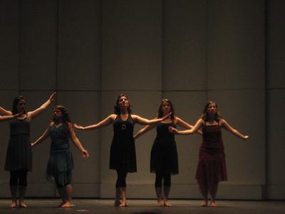 orchesis concert: Brandi Borden, Jessica Ellison, Allison Kaufmann, Caitlin Lamoreaux