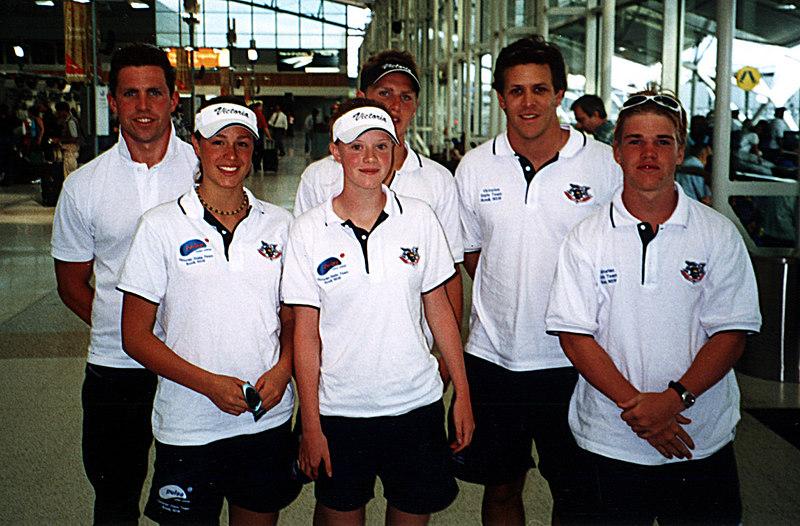 Jan 2002<br /> SLSA Interstate Teams Challenge<br /> Sydney<br /> <br /> Portsea Representatives<br /> L-R<br /> Nick Hinsley<br /> ???<br /> ???<br /> Alex Pattison<br /> Tablot Henry (Team Manager)<br /> Daniel Smith