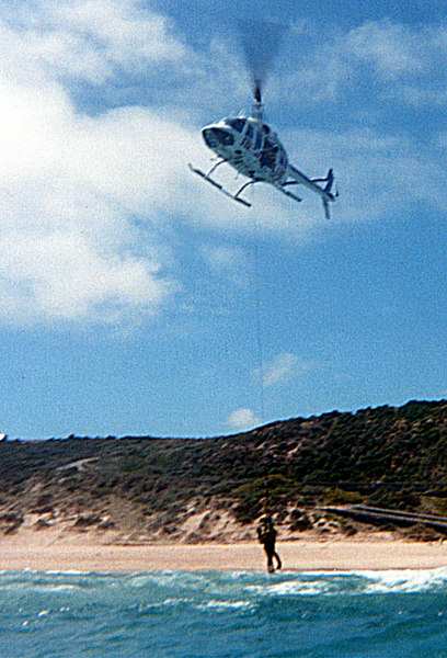 2001-12 20th Bronze Camp - helicopter rescue 1