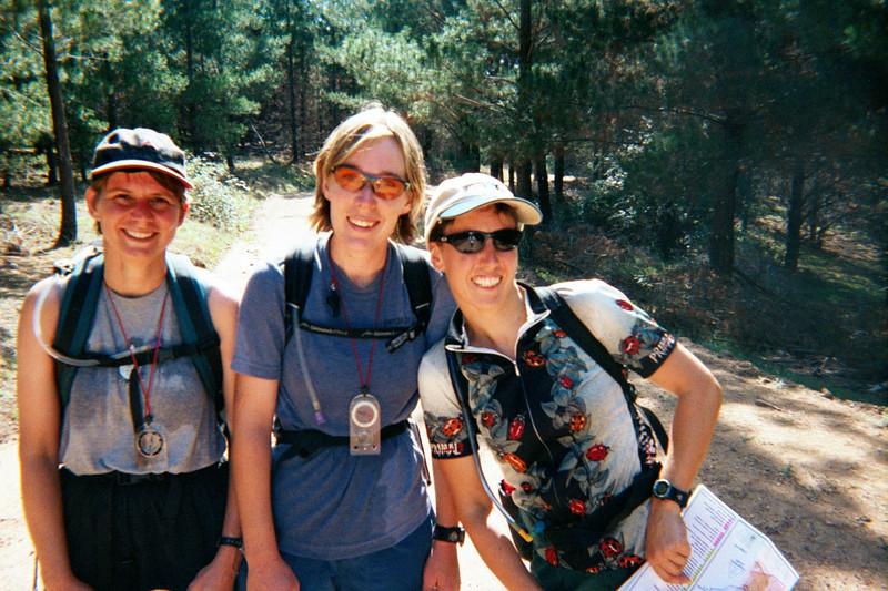 Sue Brown, Rochelle O'Hagan and Julie Quinn NOT running hard!