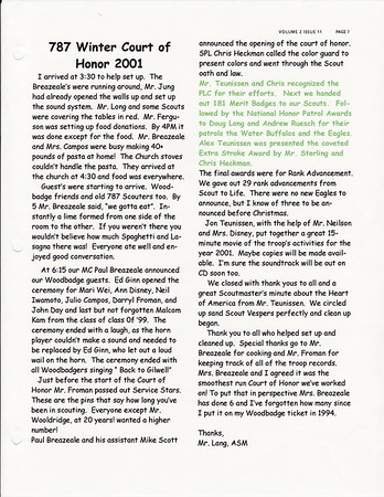 December, 2001 Troop Talk - Volume 2, Issue 11