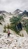 04 Vicky, Waterfall, Lewis Lake, Black Peak