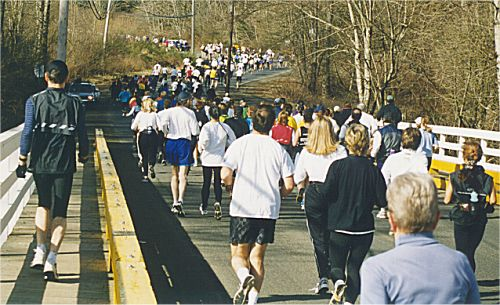 2001 Comox Valley Half Marathon - No loneliness for these long distance runners