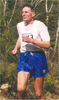 2001 Merville 15K - Bruce Hawkes gets ready to hock a loogie