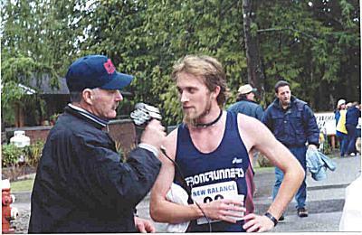 2001 Mill Bay 10K - Dr. A. Interviews the Winner, Steve Osaduik