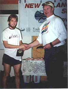 2001 Mill Bay 10K - Steve Osaduik and Race Director John Campbell
