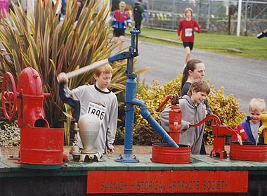 2001 Pioneer 8K - Pumps from Saanich Historical Artifacts keep the kids occupied