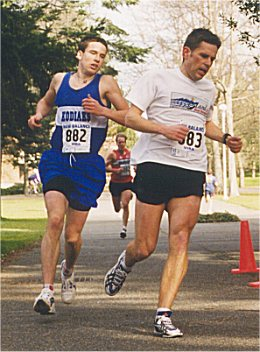 2001 UVic 5K - Rob Harmsworth and Kris Swanson