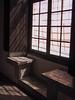 Tiled window seat