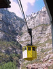 Cable car from the train station up to the monastery