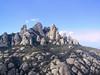 Weirdly eroded mountains