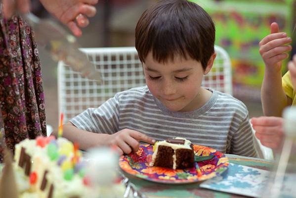 Benjamin's Fifth Birthday, June 2001