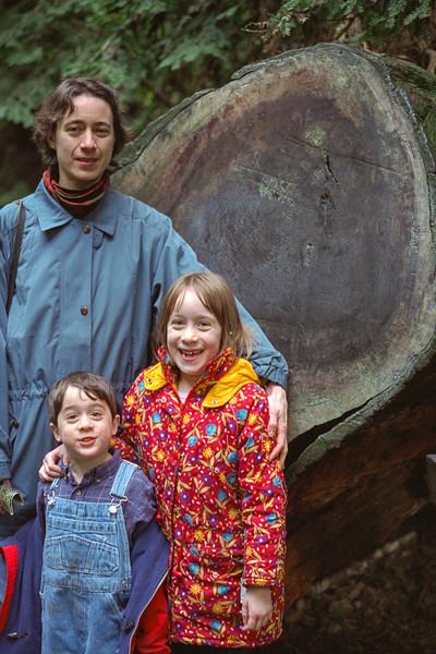 Chantal, Benjamin, and Isabel at Muir Woods