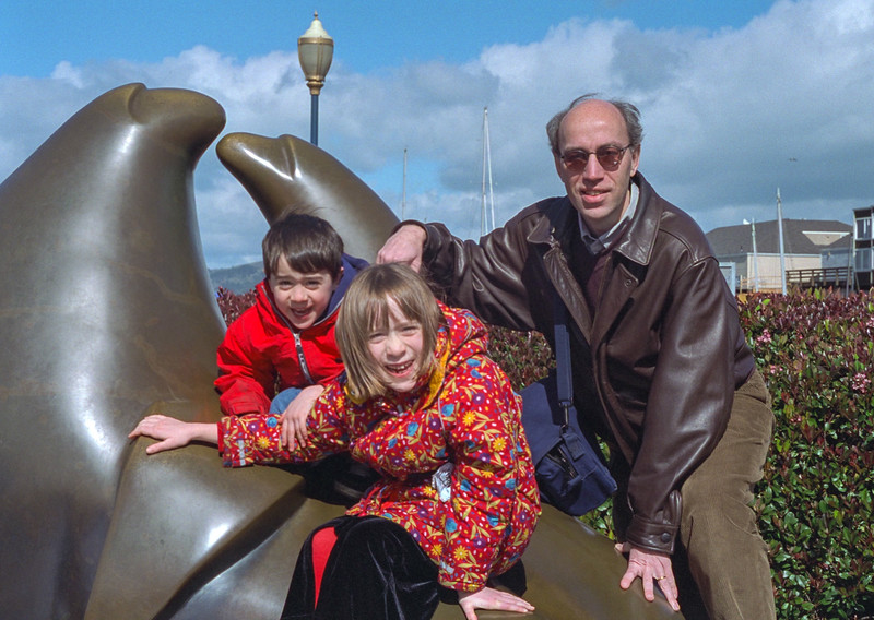 Benjamin, Isabel, and Richard at the Aquatic Park, San Francisco
