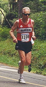 2001 Sooke River 10K - Ken Arnott wins the M75 age group for the 7th time in 2001