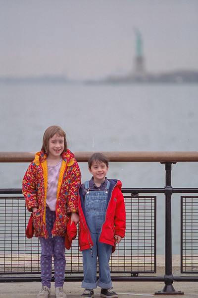 Isabel and Benjamin at Battery Park