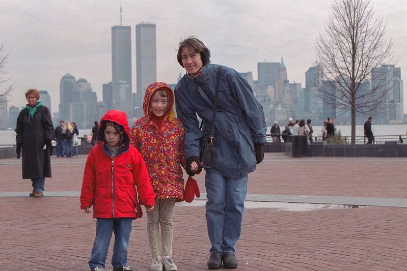 Benjamin, Isabel, and Chantal at Liberty Island