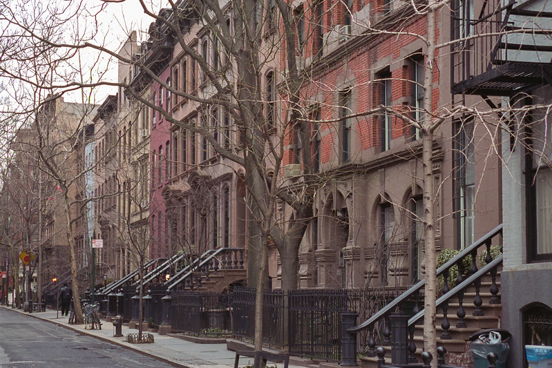 A quiet street in Greenwich Village