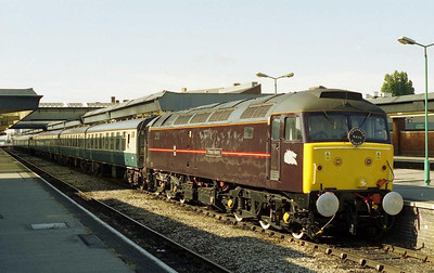 An immaculate 47799 'Prince Henry' is pictured on arrival at Derby with Cheshire Railtours' 1Z38 0640 Crewe - Carlisle charter (14/07/2001)