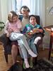 Grandma José reading to Isabel and Benjamin