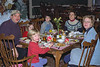 Breakfast at Eagle Mountain House: Bob, Isabel (behind), Anna, Benjamin, Chantal, and Lauren
