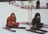Isabel and Benjamin skiing at Black Mountain
