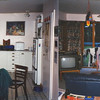 views of their kitchen and their family room
