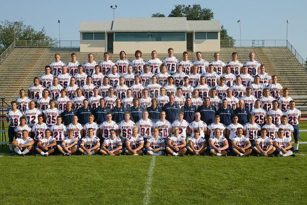 Wheaton College 2002 Football Team- Freshmen and Transfers, Team Pictures
