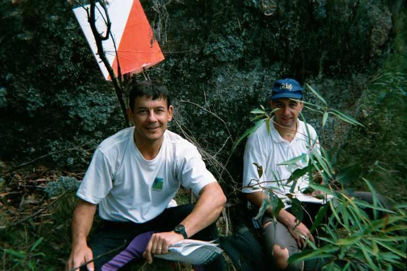 Zac Zaharias and Peter Lambert  enjoying the Greater Honeysuckle granite country during the Paddy Pallin 6 hour