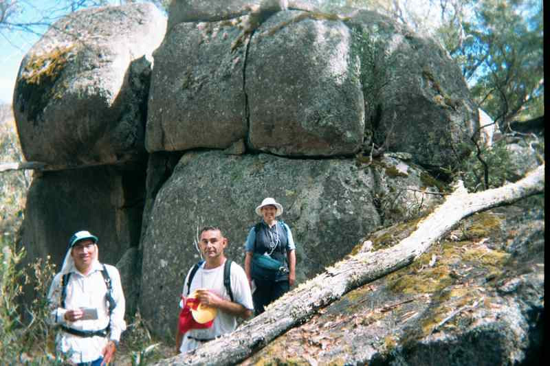 A team checking out some of those numerous boulders on the PP6