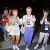 Wed 10, 2002. Philadelphia, PA. Photos by Mike Levin. - Global Education and Advocacy. Popcorn Reception. The Zilhaver sisters enjoysome of the free popcorn.