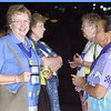 Wed 10, 2002. Philadelphia, PA. Photos by Mike Levin. - Global Education and Advocacy. Popcorn Reception. Delegates, Nancy Christian (L) and LaVan Danielson (R) share conversation over popcorn and lemonaide.