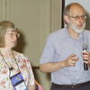 Thursday, July 11, 2002. Philadelphia, PA. Photos by Mike Levin.- Perspectives for the Differently-Abled- Marriott hotel,  Salon K & L. - (left-right ,  speakers Laura and Larry Rorem from Juneau, Alaska speak about Mental Illness and brain disorders.