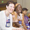Thursday, July 11, 2002. Philadelphia, PA. Photos by Mike Levin. - Global Education and Advocacy. (L-R) Nellie Vahter from Estonia, Esther Thomas from Liberia, Subhashini Bondu from India share some thoughts and laughs.