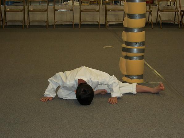 12/5/02 Jonas getting his Yellow Belt
