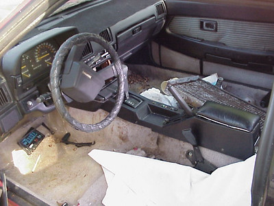 '84 - it's too bad the interior is in bad shape. i could bring the seats from the '83, though they are a different color
