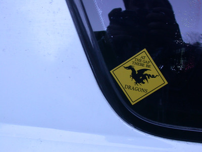 earned my sticker, but just barely, poor car