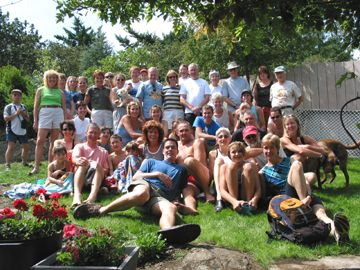 2002 Corn Roast - The gang on the lawn